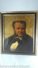 portrait signé huile sur toile  GARRIDO Eduardo Léon, 1856-1949 (Espagne) cote