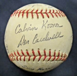 Original 1969 NY Mets Stadium Ball Facsimile Printed Signatures 50 Year Old!