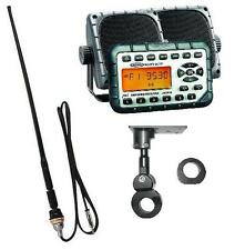 "Jensen Motorcycle ATV Water Proof Radio, Speakers, 14"" Antenna, Handlebar Mount"