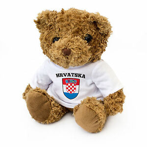 NEW - Croatia / Hrvatska Flag Teddy Bear - Croatian Fan Gift Present