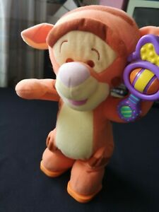 Disney Magic Rattle Talking Bouncing Tigger 2003 Mattel Fisher Price 27cm C70