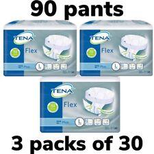 TENA Flex Plus Large 3 Packs Of 30 Incontinence Pants 90 Pants - 723330