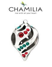 Genuine CHAMILIA 925 silver & Swarovski CHRISTMAS TWIST ORNAMENT charm bead