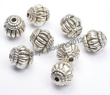 10pcs Tibetan Silver Charms Pumpkin Spacer Beads Jewelry Finding 8x7mm C3300