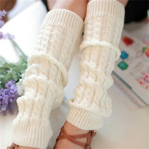 Womens Winter Knit Crochet Knitted Leg Warmers Legging Boot Cover Hot Fash FH