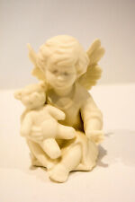 Sitting Angel With Teddy Porcelain Classic Figure