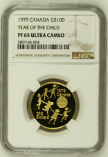 1979 Canada $100 Year Of The Child NGC Certified PF 65 Ultra Cameo Pure Gold