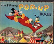WALT DISNEY'S POP-UP BOOK (HC; c1950's) Mickey Mouse Minnie, Donald Duck & Goofy