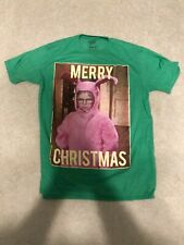 A Chrsitmas Story Movie BIG HEAD RALPHIE Green Heather T-Shirt All Sizes