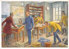 AK post Tube con funzionari postali per 1852 artisti scheda sign. R. Trache 1938