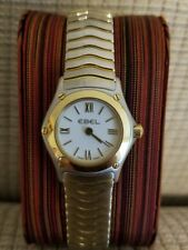Ebel Ladies Classic Wave Gold (18K bezel) & Steel Watch