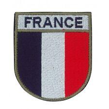 LOT DE 10 ECUSSONS DE BRAS FRANCE BLEU BLANC ROUGE PATCH ARMEE AVEC SCRATCH LM