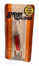 """Luhr-Jensen Vintage Super Duper Chrome/ Red Size 506 length 1-3/4"""""""