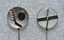 World Ice Hockey Championships 1966 & 1974 Yugoslavia Ljubljana vtg pin badges