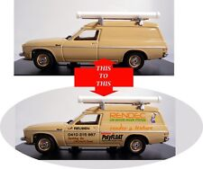 PERSONALISE A TR47B TRADIES VAN ADD YOUR BUSINESS NAME ON A HX HOLDEN VAN TRAX
