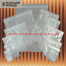 More details for plastic snap bags clear grip seal resealable poly plastic ziplock all sizes