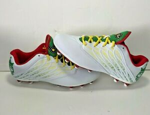 Brine Empresra Lacrosse Cleats Women's Size 10 White with Red Yellow & Green