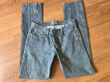 NAKED & FAMOUS JEANS WEIRD GUY SLIM STRAIGHT BUTTON FLY GREY SELVEDGE 30 X 33