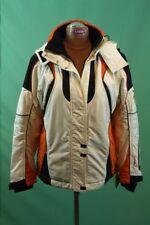 Orig Sport-Alm Ski Jacke Damen Gr 40/M Kitzbühel Austria Designer weiß orange