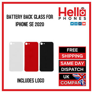 For iPhone SE 2020 Back Glass Rear Glass Battery Cover Replacement BIG HOLE