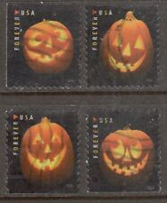 Scott #5137-40 Used Set of 4, Jack O'Lanterns (Off Paper)