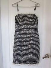 JS Collections -  Black & White Spaghetti Strap Party Dress - Size 4