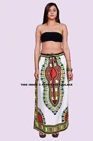 Africain Imprimé Neuf Dashiki Maxi Jupe Taille Haute Maxi Indien Femme Vêtements