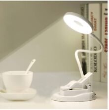 LED Desk Lamp with Makeup Mirror, 18 LED USB Rechargeable Eye-Care Reading Light