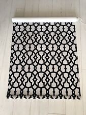 Door Or Window Roller Blinds Black And White Flocked Pattern Premium Fabric
