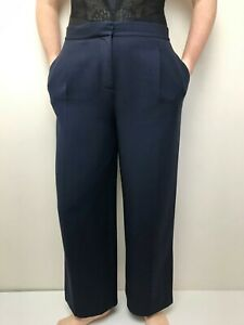 COS navy wide leg stretch pants size 38 has pockets