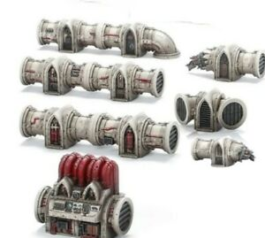 Warhammer 40k NEW Scenery Terrain Manufactorum Thermo Fuel Pipe line NOS