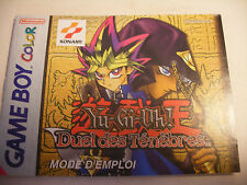 Retrogaming NINTENDO GBA Game Boy COLOR Notice YU-GI-OH Duel des Tenebres Manual