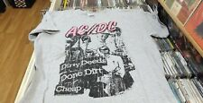 AC-DC - Dirty Deeds Done Dirt Cheap - T SHIRT - FREE SHIPPING  SIZE LARGE