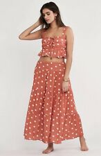NEW $341 Jen's Pirate Booty Technicolor Aida Dot Set Size Small Skirt & Crop Top