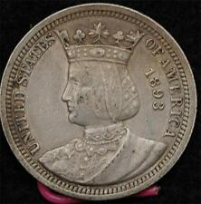 1893 Isabella Quarter:  nice XF, natural color, problem-free.  Scarce as such!