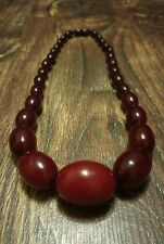 ANTIQUE BEADS  CHERRY AMBER BAKELITE MARBLE 51 GRAM