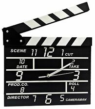 Movie Set Director Clapboard Wall Clocks Notepads Gifts Home Decor Black