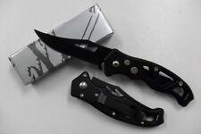 Petit Couteau Pliant de Poche Lame Acier 7 cm Manche Acier 9 cm Chasse Peche