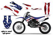 Graphics Kit MX Decal Wrap + # Plates For Yamaha TTR125LE 2008-2018 USA FLAG