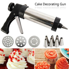 AU 22pc Biscuit Cookie Icing Cake Decorating Set Piping Gun Kit Stainless Steel
