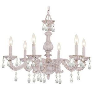 Crystorama Sutton Crystal Spectra Crystal Chandelier 5036-AW-CL-SAQ