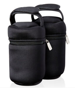 TOMMEE TIPPEE CLOSER TO NATURE BABY BOTTLE TRAVEL WARMER INSULATED BAGS x 2 NEW