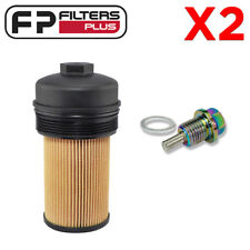 2 x P7436 Baldwin Oil Filter with Lid + MSP14125 Magnetic Sump Plug - F250 6.0L