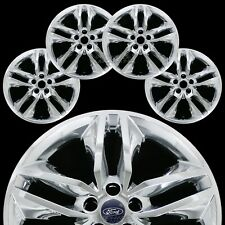 "4 Chrome 2015-2018 Ford Edge SEL 18"" Wheel Skins Hub Caps Rim Covers Simulators"