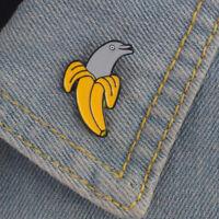 Cute Enamel Banana Dolphin Brooch Pin Shirt Collar Pin Breastpin Jewelry Gift jo
