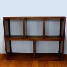 Bookcase, W120xD32xH91, Timber, Cube Bookcase, Storage Unit, Shelves.