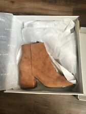 Office Suede Block Heel Brown Boots Size 6 Excellent Condition