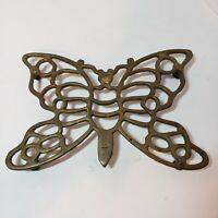 "Trivet, Butterfly Design Metal 5 Bottom Risers, span 9"" by 6"" Dining Vintage"