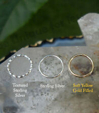 3 x Gift Starter Pack Diamond Cut Sterling Silver Small Gold Nose Ring Nose Hoop