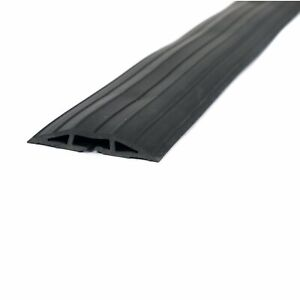 NEW! 2m Black Rubber Floor Cable Protector Safety Trunking Ramp